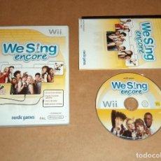 Videojuegos y Consolas: WE SING ENCORE PARA NINTENDO WII, PAL. Lote 115743655