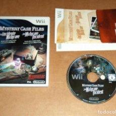 Videojuegos y Consolas: MYSTERY CASE FILES: EL INCIDENTE MALGRAVE PARA NINTENDO WII, PAL. Lote 115743695