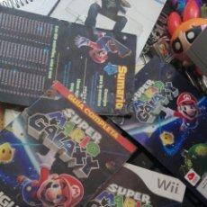 Videojuegos y Consolas: LOTE INSTRUCCIONES SUPER MARIO GALAXY WII. Lote 116741378
