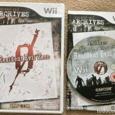 Videojuegos y Consolas: RESIDENT EVIL ZERO 0 ARCHIVES WII NINTENDO CASTELLANO KREATEN . Lote 119042863