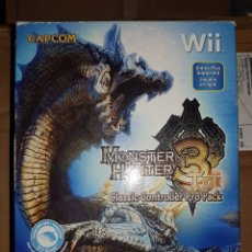 Videojuegos y Consolas: WII MONSTER HUNTER 3 CLASSIC CONTROLLER PACK. Lote 121230303