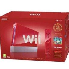 Videojuegos y Consolas: WII ROJA 25 ANIVERSARIO SUPER MARIO. Lote 126655183