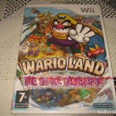 Videojuegos y Consolas: WARIO LAND THE SHAKE DIMENSION NINTENDO WII PAL ESPAÑA PRECINTADO WARIOLAND GOOD FEEL. Lote 130614830