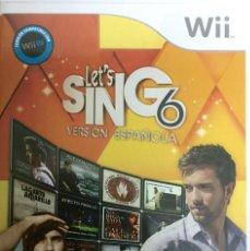 Videojuegos y Consolas: LET'S SING 6 - VERSION ESPAÑOLA - WII. Lote 133767098