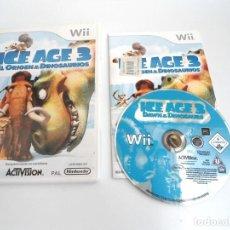Videojuegos y Consolas: ICE AGE 3 EL ORIGEN DE LOS DINOSAURIOS - NINTENDO WII - COMPLETO CON INSTRUCCIONES - MUY BUEN ESTADO. Lote 133911170