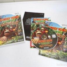 Videojuegos y Consolas: DONKEY KONG COUNTRY RETURNS - NINTENDO WII - COMPLETO CON INSTRUCCIONES - BUEN ESTADO. Lote 133930186