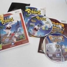 Videojuegos y Consolas: LOTE RABBIDS MI CAAASA (GO HOME) & RAYMAN RAVING RABBIDS 2 - NINTENDO WII - BUEN ESTADO. Lote 133956790