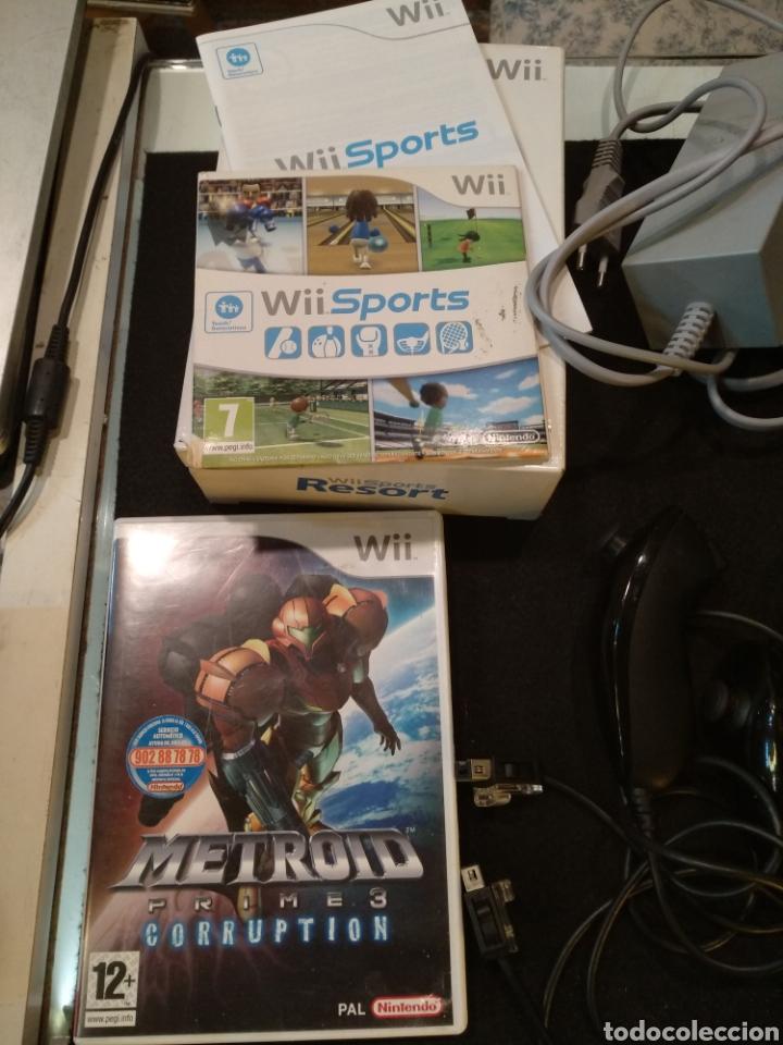 Videojuegos y Consolas: Consola Wii completa con 2 juegos metrood y wii sports. Funciona - Foto 2 - 138043554