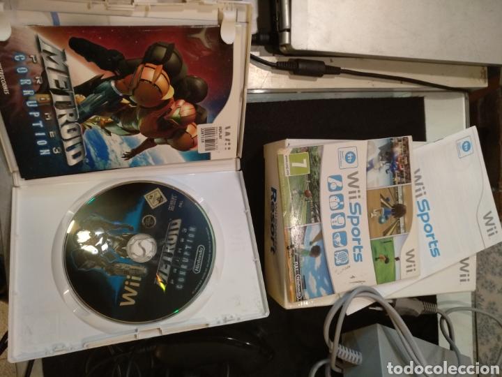 Videojuegos y Consolas: Consola Wii completa con 2 juegos metrood y wii sports. Funciona - Foto 3 - 138043554
