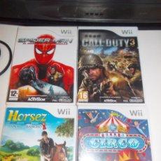 Videojuegos y Consolas: LOTE DE 4 JUEGOA NINTENDO WII. Lote 143432146