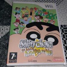 Videojuegos y Consolas: SHIN CHAN LAS NUEVAS AVENTURAS WII PAL ESPAÑA COMPLETO. Lote 143607470