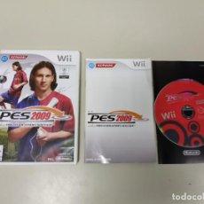 Videojuegos y Consolas: J- JUEGO PRO EVOLUTION SOCCER 2009 PAL NINTENDO WII AÑO 2009 EUR . Lote 146015762
