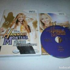 Videojuegos y Consolas: HANNAH MONTANA UNETE A SU GIRA MUNDIAL NINTENDO WII PAL ESPAÑA . Lote 147412794
