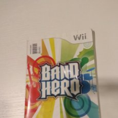 Videojuegos y Consolas: MANUAL DE INSTRUCCIONES BAND HERO WII. Lote 147570808