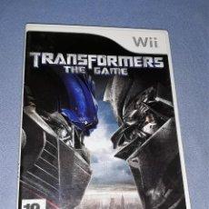 Videojuegos y Consolas: JUEGO COMPLETO WII TRANSFORMERS THE GAME ORIGINAL EN MUY BUEN ESTADO VER FOTOS. Lote 147702826