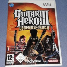 Videojuegos y Consolas: JUEGO COMPLETO WII GUITAR HERO III LEGENDS OF ROCK ORIGINAL EN MUY BUEN ESTADO VER FOTOS. Lote 147703906