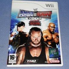 Videojuegos y Consolas: JUEGO COMPLETO WII SMACK DOWN VS RAW 2008 ORIGINAL EN MUY BUEN ESTADO VER FOTOS. Lote 147704574