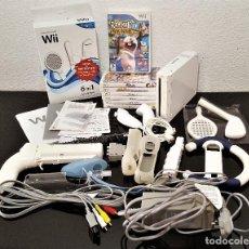 Videojuegos y Consolas: LOTE NINTENDO WII + 7 JUEGOS + CONECTORES Y OTROS VARIOS (SI FUNCIONA). Lote 150023214
