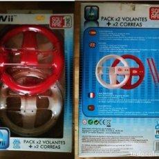 Videojuegos y Consolas: PACK 2 VOLANTES WII SEGUNDA MANO WII MOTION PLUS COMPATIBLE VER FOTOS Y DESCRIPCIÓN. Lote 120056027
