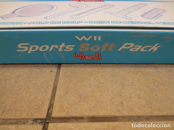 Videojuegos y Consolas: ACCESORIOS PARA MANDO WII SPORTS SOFT PACK 4EN 1 - Foto 3 - 153516830