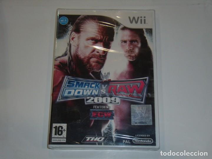 JUEGO WII, SMACK DOW S V RAW 2009, NUEVO SIN ABRIR, PRECINTADO. (Juguetes - Videojuegos y Consolas - Nintendo - Wii)