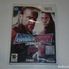 Videojuegos y Consolas: JUEGO WII, SMACK DOW S V RAW 2009, NUEVO SIN ABRIR, PRECINTADO.. Lote 153933902