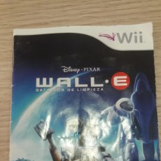 Videojuegos y Consolas: NINTENDO WII WALL.E BATALLON DE LIMPIEZA MANUAL. Lote 160772880