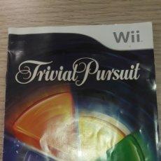 Videojuegos y Consolas: NINTENDO WII FRIVIAL PURSUIT MANUAL. Lote 160773060