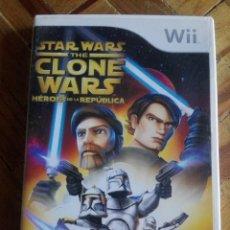 Videojuegos y Consolas: JUEGO WII STAR WARS THE CLONE WARS HÉROES DE LA REPÚBLICA. Lote 161556598