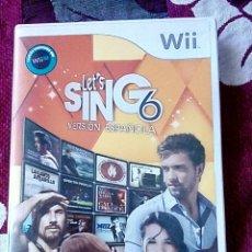 Videojuegos y Consolas: LETS SING 6 WII. Lote 162765230