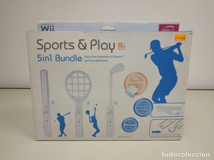 J6- SPORTS & PLAY + PLUS 5 IN 1 BUNDLE COMPATIBLE WII SPEEDLINK STOCK ALMACÉN (Juguetes - Videojuegos y Consolas - Nintendo - Wii)