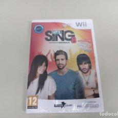 Videojuegos y Consolas: J6- LETS SING VERSION ESPAÑOLA NINTENDO WII NUEVO PRECINTADO. Lote 169578396