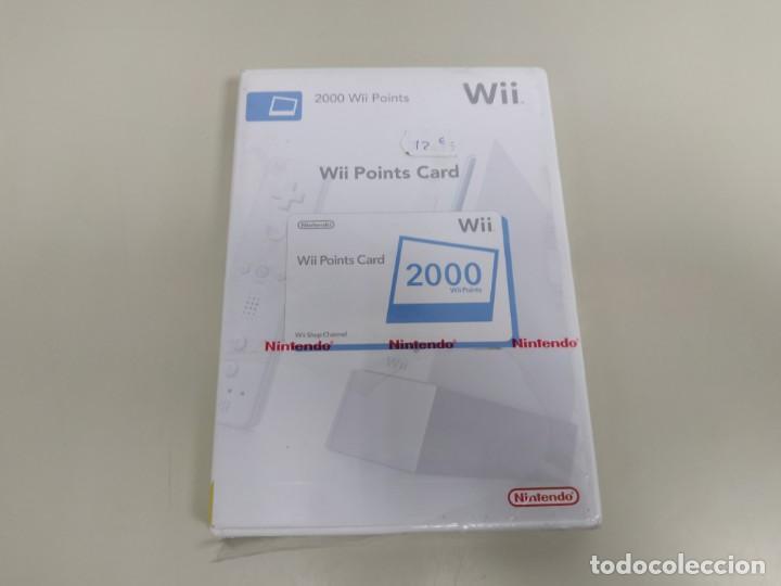 J6-WII POINTS CARD 2000 VERSION ESPAÑA NINTENDO WII NUEVO PRECINTADO (Juguetes - Videojuegos y Consolas - Nintendo - Wii)