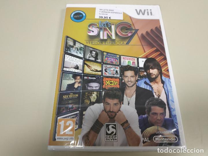 JJ-LET´S SING 7 WII VERSION ESPAÑA PRECINTADO PROCEDE STOCK (Juguetes - Videojuegos y Consolas - Nintendo - Wii)