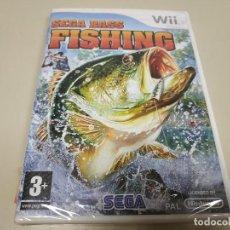 Videojuegos y Consolas: JJ- SEGA BASS FISHING NINTENDO WII VERSION ESPAÑA NUEVO PRECINTADO . Lote 171612303