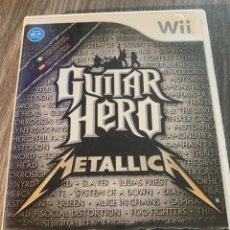 Videojuegos y Consolas: GUITAR HERO METALLICA WII PAL COMPLETO. Lote 174504762