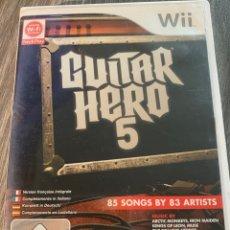 Videojuegos y Consolas: GUITAR HERO 5 WII PAL COMPLETO. Lote 174504849