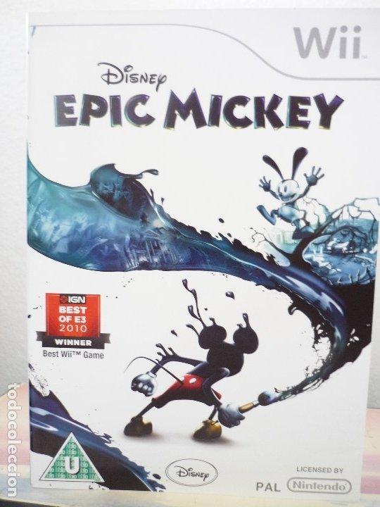 WII EPIC MICKEY (Juguetes - Videojuegos y Consolas - Nintendo - Wii)