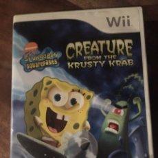 Videojuegos y Consolas: JUEGO WII - CREATURE FROM THE KRUSTY KRAB. Lote 177754939