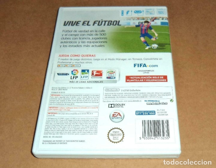 Videojuegos y Consolas: Fifa 15 para Nintendo Wii, Pal - Foto 2 - 179950376