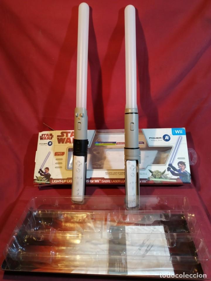 Videojuegos y Consolas: STAR WARS - SABLE LASER para WII - Foto 12 - 180452745