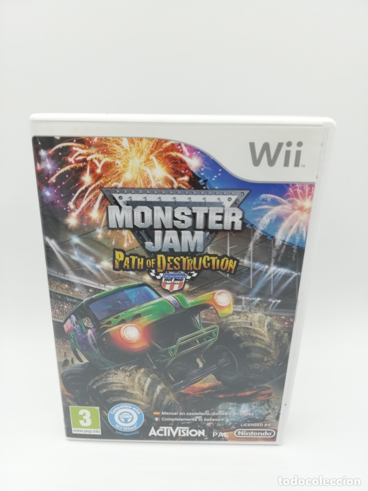 MONSTER JAM PATH OF DESTRUCTION WII + VOLANTE (Juguetes - Videojuegos y Consolas - Nintendo - Wii)