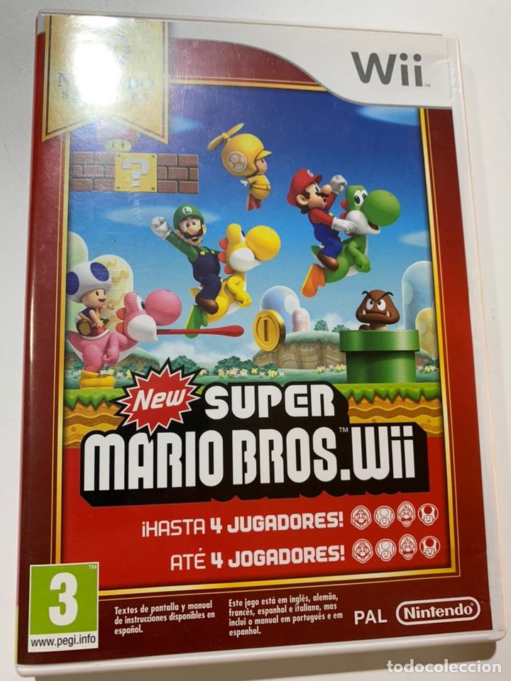 JUEGO NEW SÚPER MARIO BROS PARA NINTENDO WII COMPLETO CON INSTRUCCIONES (Juguetes - Videojuegos y Consolas - Nintendo - Wii)