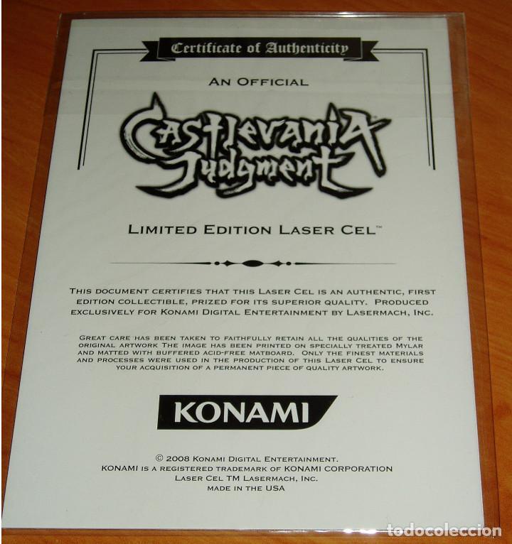 Videojuegos y Consolas: CASTLEVANIA JUDGMENT NINTENDO WII LIMITED EDITION LASER CEL KONAMI - Foto 2 - 189432097