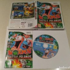 Videojuegos y Consolas: WORMS BATTLE ISLANDS NINTENDO WII COMPLETO PAL-ESPAÑA. Lote 189702097