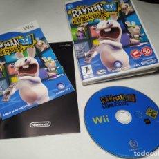 Videojuegos y Consolas: RAYMAN RAVING RABBIDS TV PARTY ( NINTENDO WII - WII U - PAL - ESPAÑA) . Lote 194564993