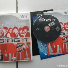 Videojuegos y Consolas: DISNEY SING IT HIGH SCHOOL MUSICAL 3 FIN DE CURSO NINTENDO WII KREATEN. Lote 194954151