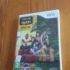 Videojuegos y Consolas: JUEGO NINTENDO WII NAT GEO. QUIZ! WILD LIFE. Lote 200314737