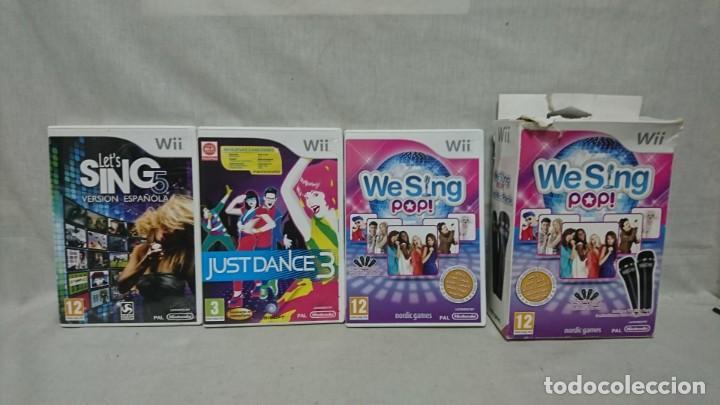 LOTE CONSOLA WII, WE SING POP, MICRÓFONOS Y JUEGOS, KARAOKE (Juguetes - Videojuegos y Consolas - Nintendo - Wii)