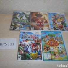 Videojuegos y Consolas: WII - PACK DE 5 JUEGOS VARIADOS , PAL ESPAÑOLES. Lote 205700837